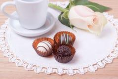 Chocolate romántico Fotos de archivo libres de regalías