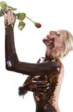 Chocolate rose Royalty Free Stock Photography