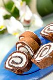 Chocolate roulade Royalty Free Stock Images