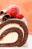 Chocolate Roulade Stock Photos