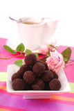 Chocolate rum balls Royalty Free Stock Photos