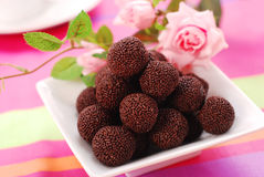 Chocolate rum balls Stock Image