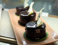 Chocolate sacher cake Royalty Free Stock Photography