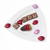 Chocolate Saint Valentine Royalty Free Stock Photos
