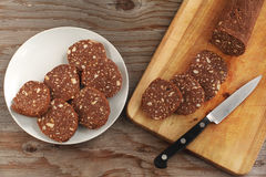 Chocolate salami Stock Photos