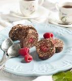 Chocolate salami Stock Photo