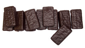 Chocolate sandwich biscuit Stock Photography