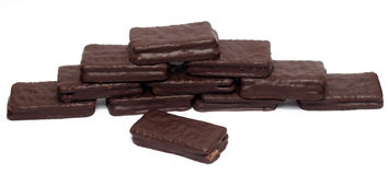 Chocolate sandwich biscuit Royalty Free Stock Photo