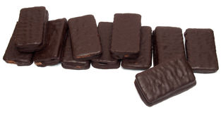 Chocolate sandwich biscuit Stock Images