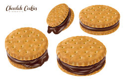 Chocolate sandwich cookies Stock Images