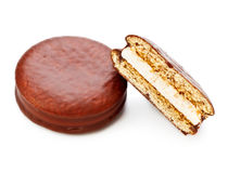 Chocolate Sandwitch Biscuits Stock Image