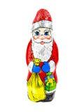 Chocolate Santa Claus Stock Image