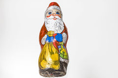 Chocolate Santa Claus Stock Photography