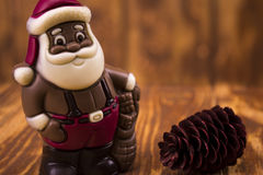 Chocolate Santa Claus Royalty Free Stock Images