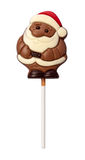 Chocolate Santa isolated with clipping path