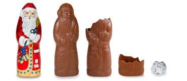 Chocolate Santa Royalty Free Stock Photography