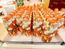 Chocolate santas Royalty Free Stock Photo