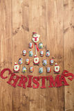 Chocolate Santas, Snowman and Biscuits and Letters Christmas Stock Images