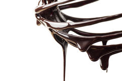 Chocolate sauce Stock Images