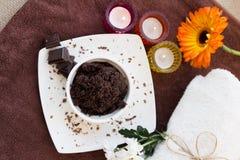 Chocolate Scrub set Stock Photos