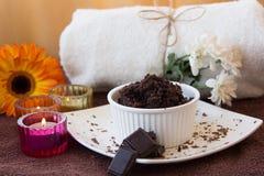 Chocolate Scrub set Royalty Free Stock Images
