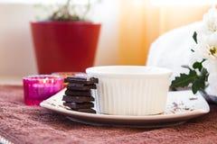 Chocolate Scrub set Stock Images