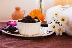 Chocolate Scrub set Royalty Free Stock Image