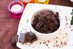 Chocolate Scrub set Royalty Free Stock Photography