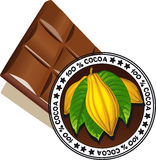 Chocolate with seal of Quality - vector quality Stock Image