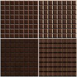 Chocolate seamless background set Royalty Free Stock Photography