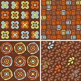 Chocolate  seamless  collection Royalty Free Stock Images