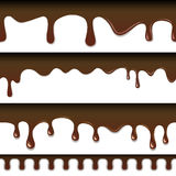Chocolate seamless drips Royalty Free Stock Image