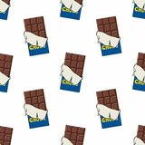 Chocolate. Seamless vector pattern for design. Chocolate. Seamless vector pattern for your design Stock Photos
