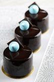 Chocolate sensation round cake Royalty Free Stock Images