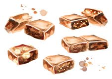 Chocolate set. Hand-drawn illustration Stock Images