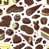 Chocolate set pattern Royalty Free Stock Images