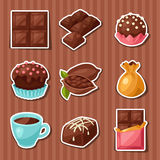 Chocolate set of various tasty sweets and candies Stock Photo