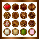 Chocolate sets Royalty Free Stock Photography
