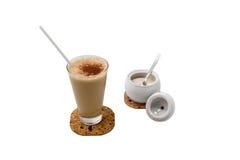 Chocolate shake. Cup of chocolate shake with  sugar Royalty Free Stock Photos