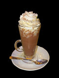 Chocolate shake and ice cream royalty free stock images