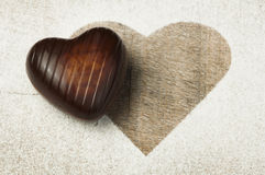 Chocolate in the shape of hearts Royalty Free Stock Photography