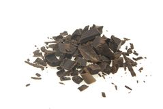 Chocolate shaving stock image