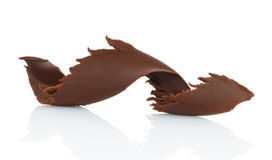 Chocolate shaving on white background Royalty Free Stock Image