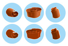 Chocolate shavings icon Stock Photos