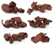 Chocolate shavings set Stock Photos