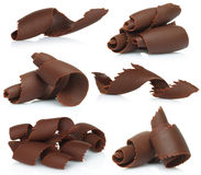 Chocolate shavings set Royalty Free Stock Photography