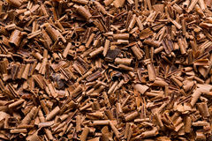 Chocolate shavings Royalty Free Stock Photography