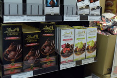Chocolate on the shelves Royalty Free Stock Images