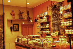 Chocolate shop in Brussels (Belgium) Royalty Free Stock Images