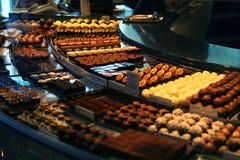 Chocolate shop. A chocolate shop in Swiss Stock Image